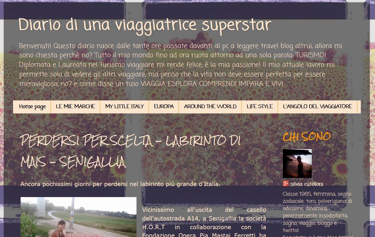Blog Diario di una viaggiatrice superstar - 01/09/2014