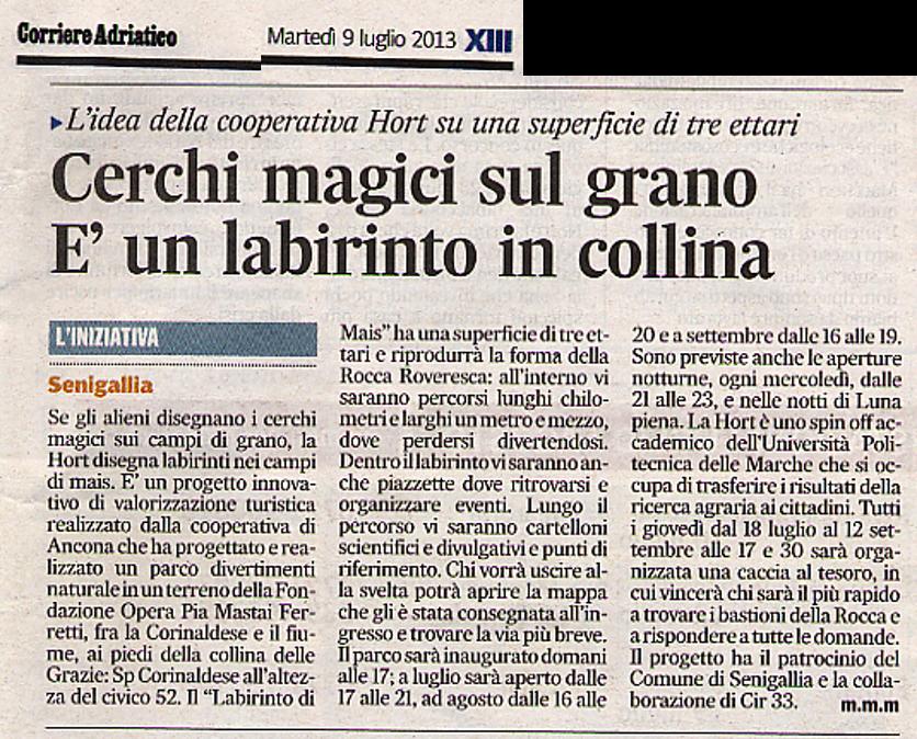 Corriere Adriatico - 9/07/2013