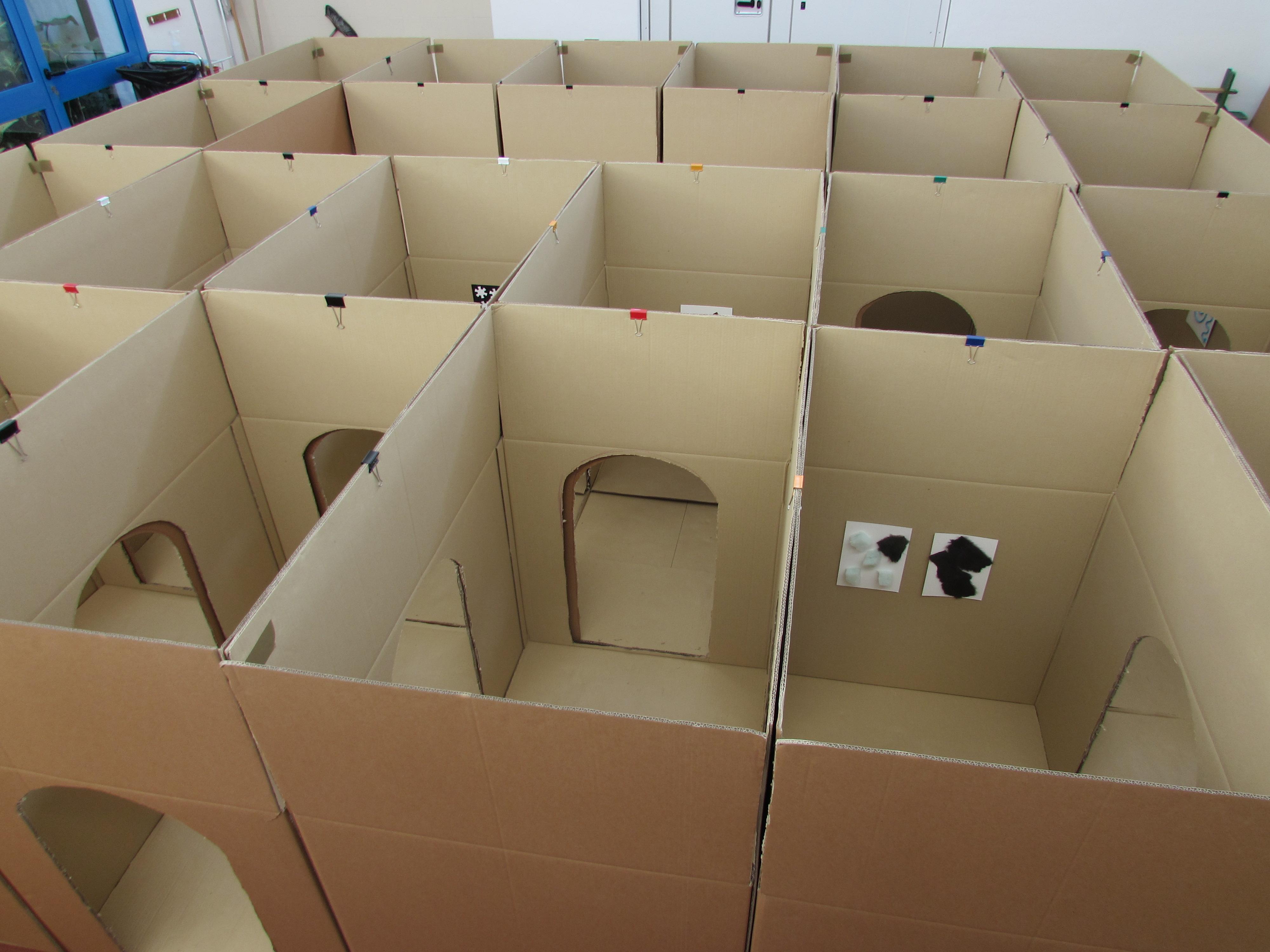 Labirinto tattile in cartone