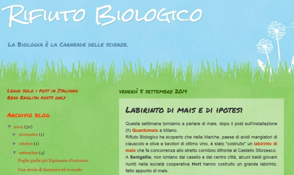 Blog Rifiuto biologico - 05/09/2014