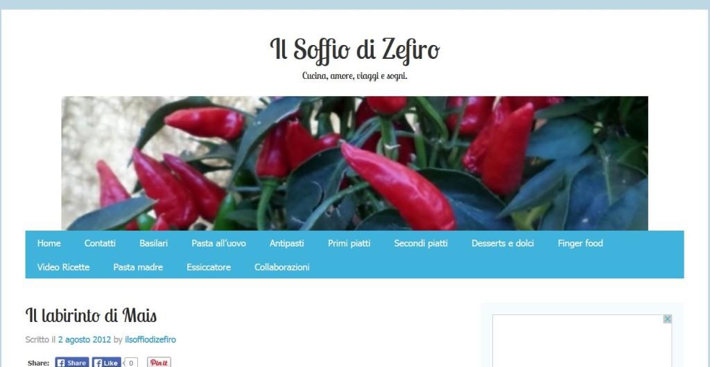 Blog Il Soffio di Zefiro - 02/08/2012