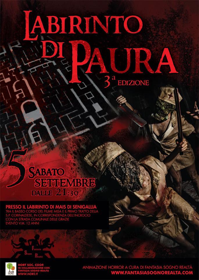 5 settembre - LABIRINTO DI PAURA