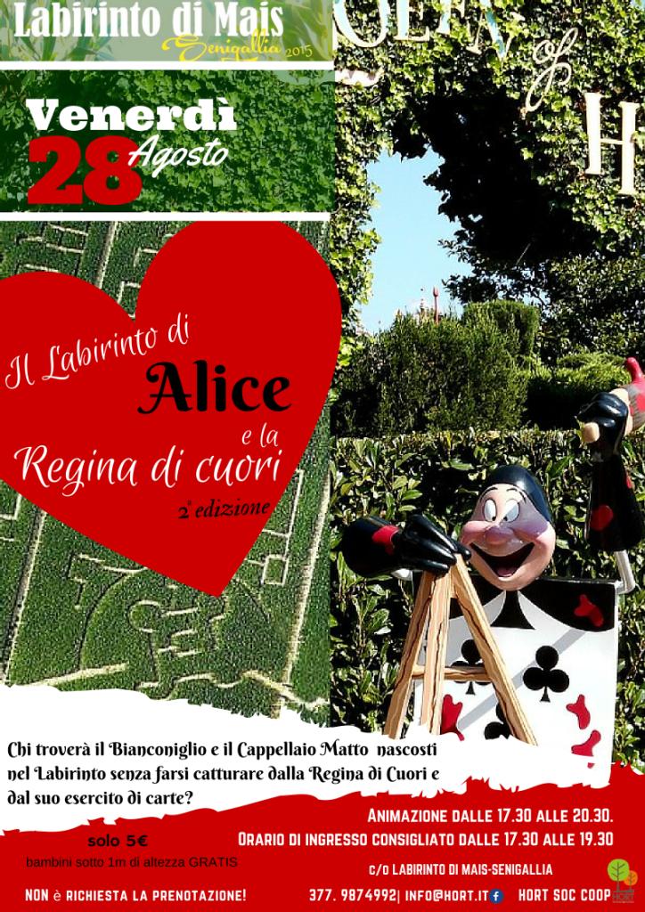 28 agosto - IL LABIRINTO DI ALICE E LA REGINA DI CUORI - 2a edizione REPLICA
