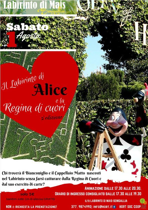 1 agosto - IL LABIRINTO DI ALICE E LA REGINA DI CUORI - 2a edizione