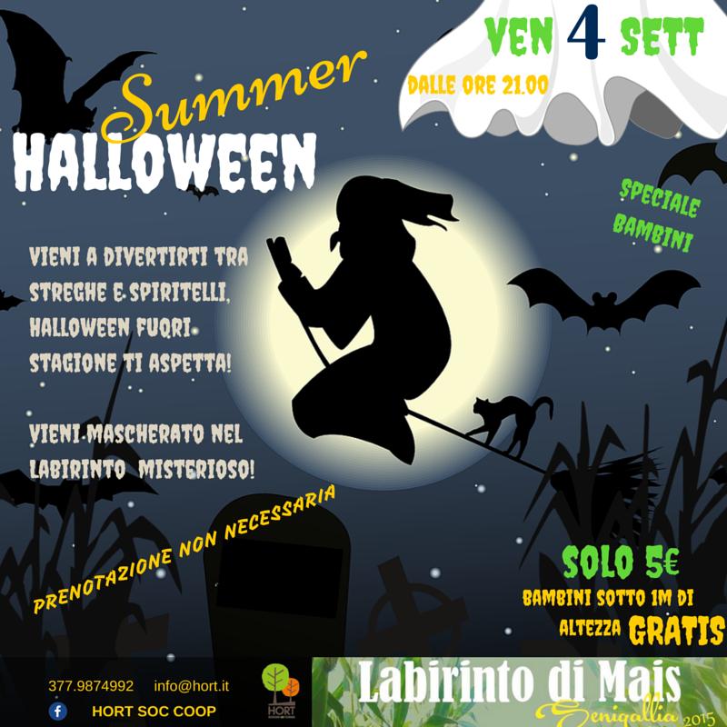 4 settembre - SUMMER HALLOWEEN - speciale bambini