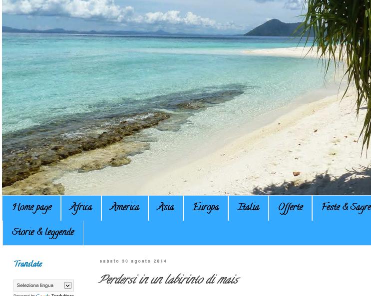 Blog Diario di una viaggiatrice seriale - 30/08/2014