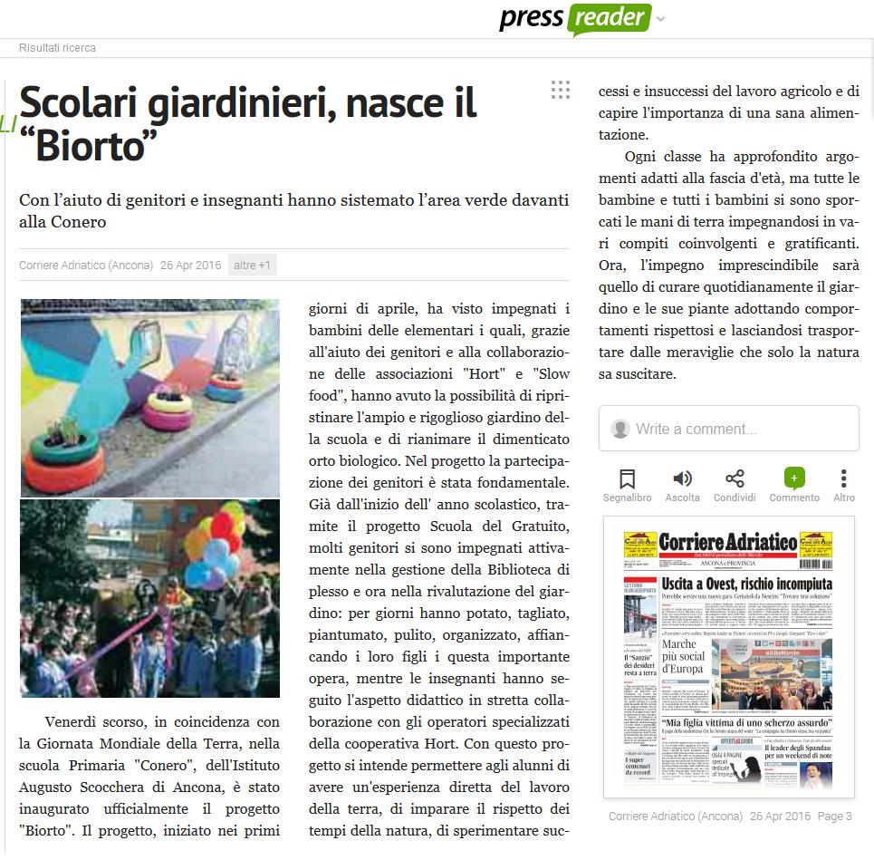 Corriere Adriatico - 26/04/2016