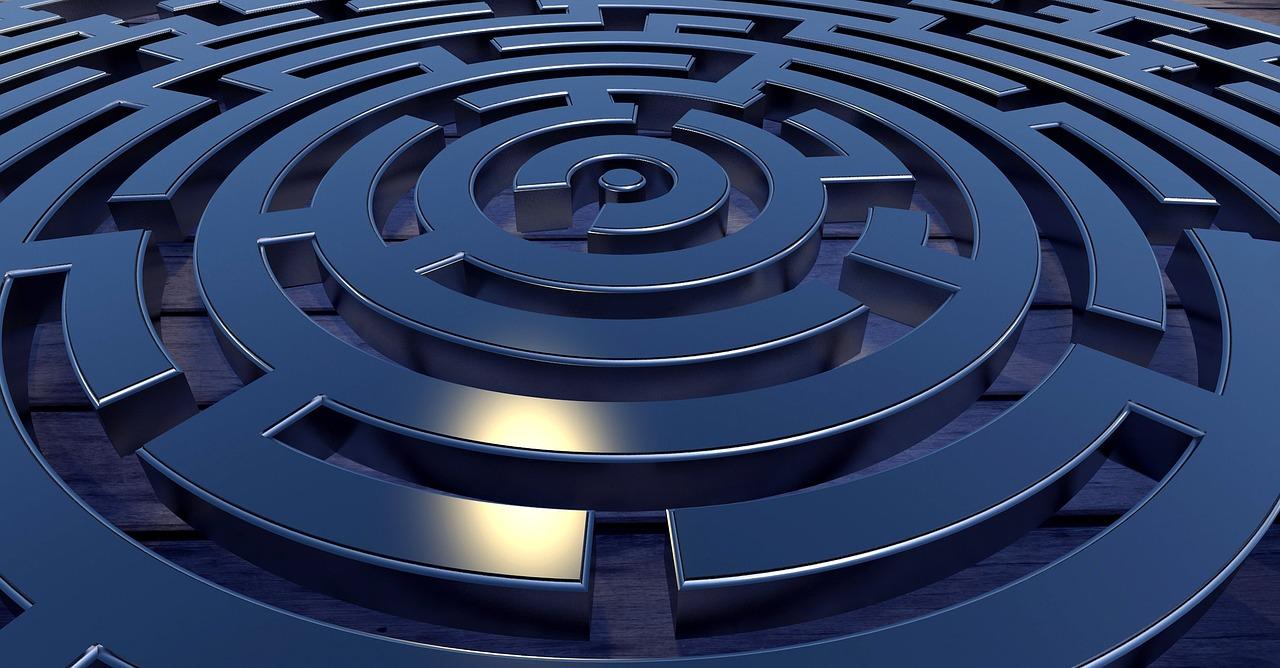 immagine labirinto a computer
